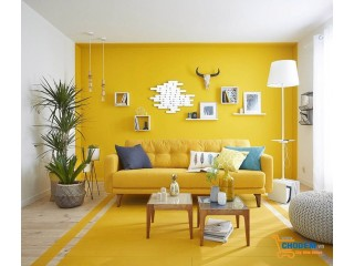 Trang trí nhà siêu đẹp với gam màu vàng tươi sáng và nổi bật