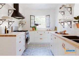 Phòng bếp cực gọn nhờ bí quyết phân loại và sắp xếp đồ dùng hợp lý