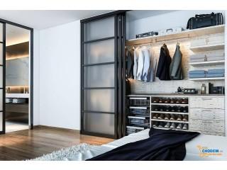 Sắp đặt tủ quần áo hợp lý giúp phòng ngủ gọn và đẹp